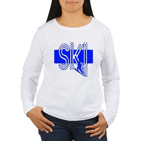 Ski Blue Women's Long Sleeve T-Shirt