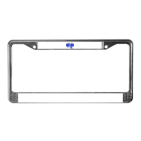 Ski Blue License Plate Frame