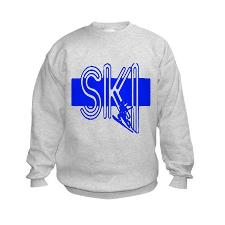 Ski Blue Kids Sweatshirt
