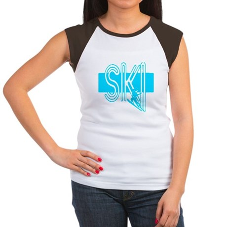Ski Powder Blue Women's Cap Sleeve T-Shirt