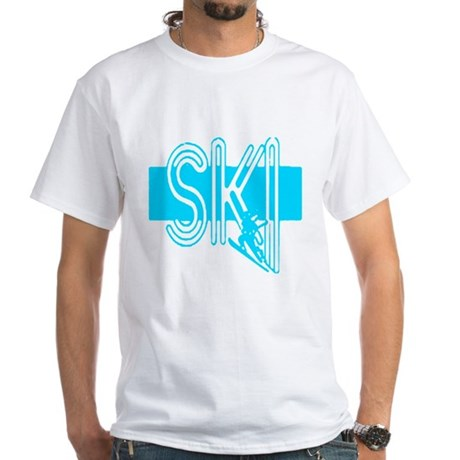 Ski Powder Blue White T-Shirt
