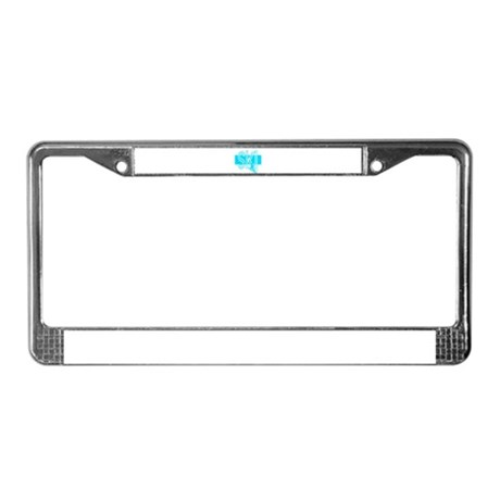 Ski Powder Blue License Plate Frame