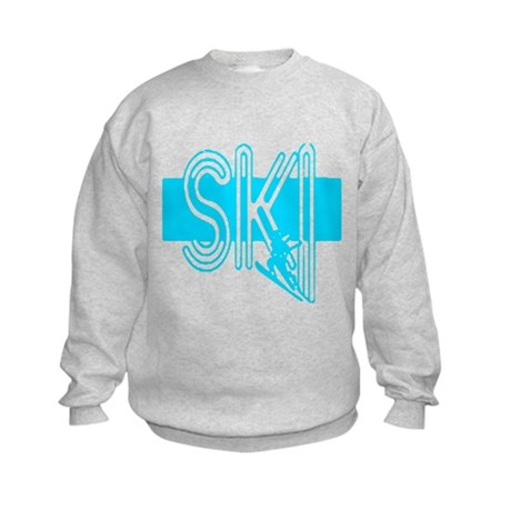 Ski Powder Blue Kids Sweatshirt