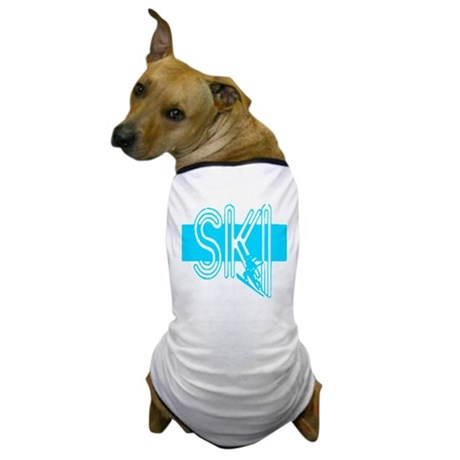 Ski Powder Blue Dog T-Shirt
