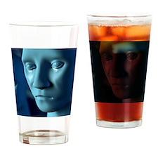 Depression, artwork Drinking Glass