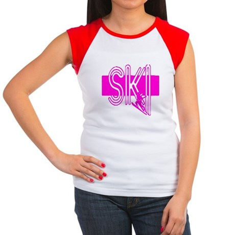 Ski Pink Women's Cap Sleeve T-Shirt