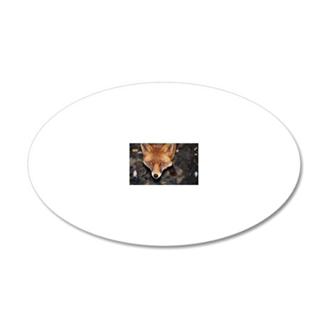 Red fox 20x12 Oval Wall Decal