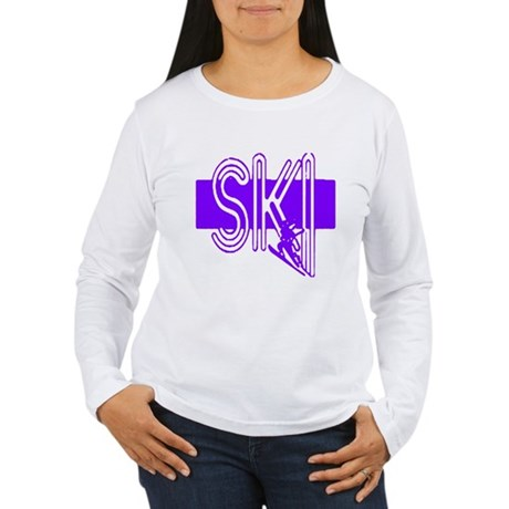 Ski Purple Women's Long Sleeve T-Shirt