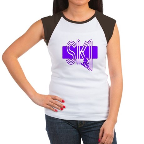 Ski Purple Women's Cap Sleeve T-Shirt