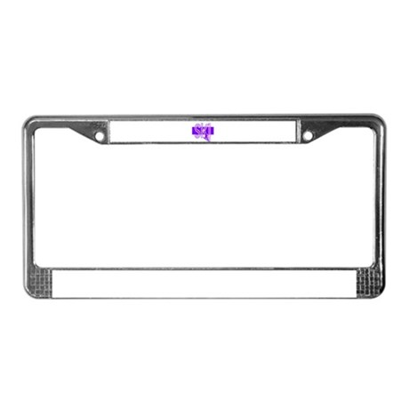 Ski Purple License Plate Frame