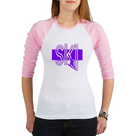 Ski Purple Jr. Raglan