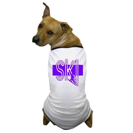 Ski Purple Dog T-Shirt