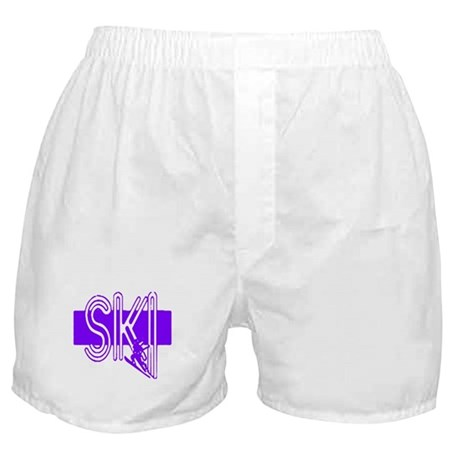 Ski Purple Boxer Shorts