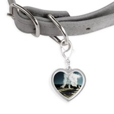 Old faithful loop trail - Yell Small Heart Pet Tag