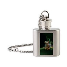 Red-eyed tree frog Flask Necklace