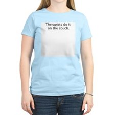 """Therapists do it on the couch"" T-Shirt"