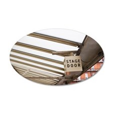 Stage Door Sign, Royal Alber Wall Sticker