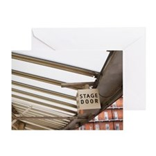Stage Door Sign, Royal Albert Hall,  Greeting Card