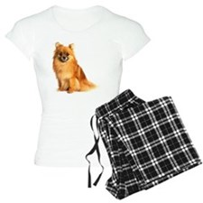Pomeranian dog, on white ba Pajamas
