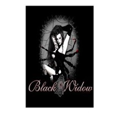 Black Widow Postcards (Package of 8)