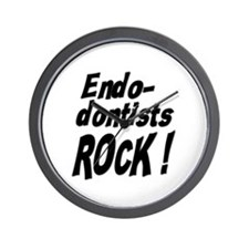 Endodontists Rock ! Wall Clock