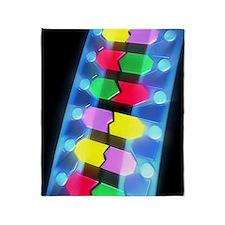 DNA molecule Throw Blanket