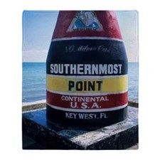 Sign marking southernmost point in U Throw Blanket