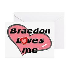 braedon loves me  Greeting Cards (Pk of 10)