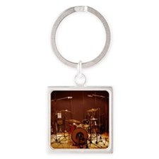 Drum kit Square Keychain