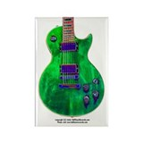 """Foil Green"" Guitar Rectangle Magnet"