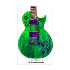 """Foil Green"" Guitar Rectangle Decal"