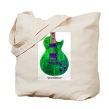 """Foil Green"" Guitar Tote Bag"