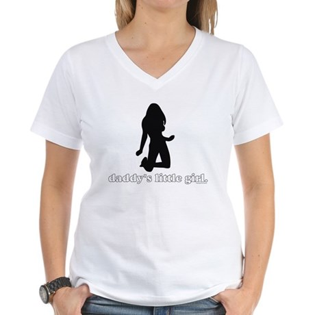 Daddy's Girl Women's V-Neck T-Shirt