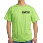 Fly Naked Green T-Shirt