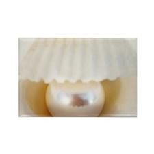 Pearl in a shell Rectangle Magnet