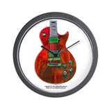 """Foil Red"" Guitar Wall Clock"