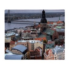Riga old town, Latvia Throw Blanket