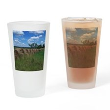 Hay Field Drinking Glass