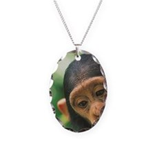Young Chimpanzee Pan troglodyt Necklace