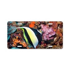 Moorish idol Zanclus comutu Aluminum License Plate