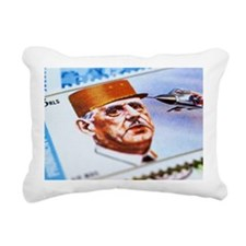 Charles de Gaulle on pos Rectangular Canvas Pillow