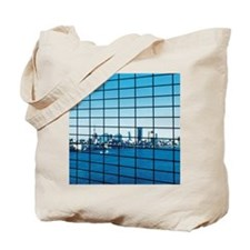 Reflection of Tokyo Bay in office block w Tote Bag