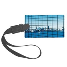 Reflection of Tokyo Bay in offic Luggage Tag