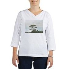The tall tree on the left is a  Women's Long Sleeve Shirt (3/4 Sleeve)