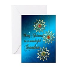 A blue Christmas card for a wonderful grandson. Gr