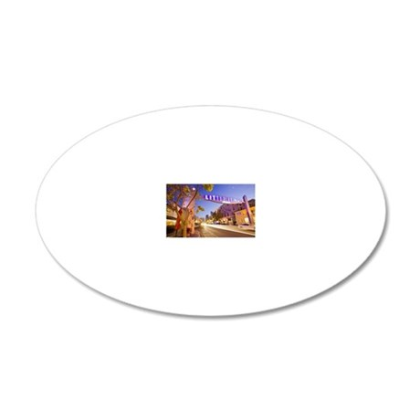 Entrance to Little Italy dis 20x12 Oval Wall Decal