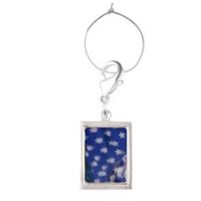Lincoln Memorial with American Portrait Wine Charm