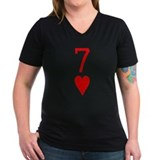 Lucky Seven of Hearts Poker Shirt