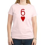Sexy Six of Hearts Poker T-Shirt