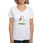 Red Pyle Modern Games Women's V-Neck T-Shirt